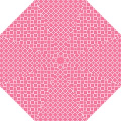 Soft Pink Quatrefoil Pattern Folding Umbrella by Zandiepants