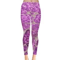 Festive Chic Pink Glitter Stone Leggings  by yoursparklingshop