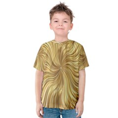 Chic Festive Elegant Gold Stripes Kid s Cotton Tee by yoursparklingshop