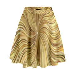 Chic Festive Elegant Gold Stripes High Waist Skirt by yoursparklingshop