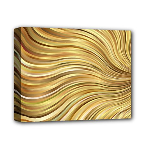 Chic Festive Gold Brown Glitter Stripes Deluxe Canvas 14  X 11  by yoursparklingshop