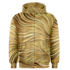 Chic Festive Gold Brown Glitter Stripes Men s Zipper Hoodie by yoursparklingshop