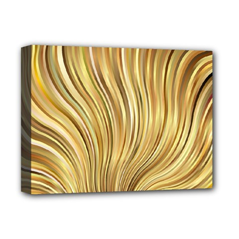 Gold Stripes Festive Flowing Flame  Deluxe Canvas 16  X 12   by yoursparklingshop