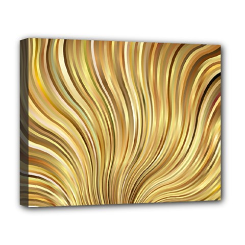 Gold Stripes Festive Flowing Flame  Deluxe Canvas 20  X 16   by yoursparklingshop
