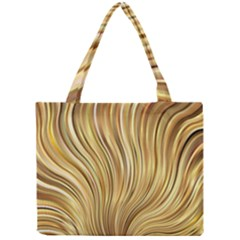 Gold Stripes Festive Flowing Flame  Mini Tote Bag