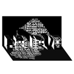 Funny Santa Black And White Typography Believe 3d Greeting Card (8x4)  by yoursparklingshop