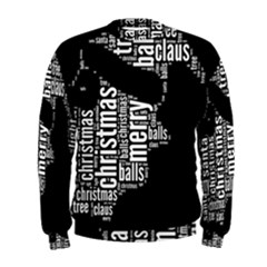 Funny Santa Black And White Typography Men s Sweatshirt by yoursparklingshop