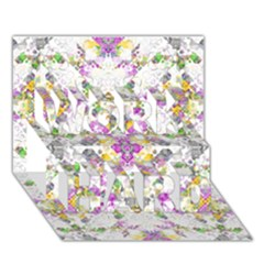 Geometric Boho Chic Work Hard 3d Greeting Card (7x5)  by dflcprints