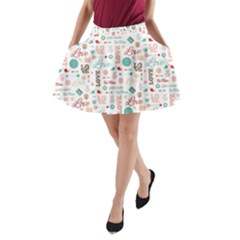 Lovely Valentine s Day Pattern A Line Pocket Skirt by TastefulDesigns