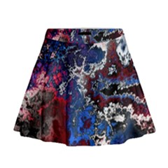 Amazing Fractal 28 Mini Flare Skirt by Fractalworld