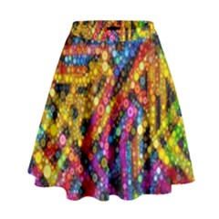 Color Play In Bubbles High Waist Skirt by KirstenStar