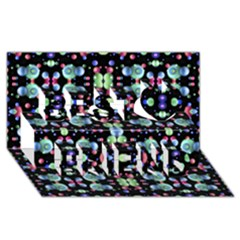 Multicolored Galaxy Pattern Best Friends 3d Greeting Card (8x4)  by dflcprints
