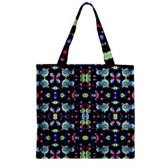 Multicolored Galaxy Pattern Zipper Grocery Tote Bag by dflcprints