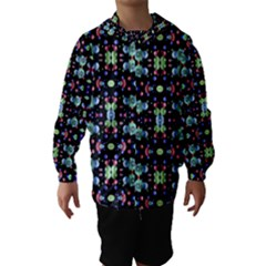 Multicolored Galaxy Pattern Print Hooded Wind Breaker (Kids) by dflcprintsclothing