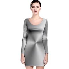 Shiny Metallic Silver Long Sleeve Velvet Bodycon Dress by yoursparklingshop