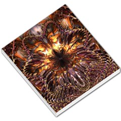 Golden Metallic Abstract Flower Small Memo Pads by CrypticFragmentsDesign