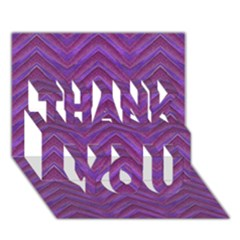 Grunge Chevron Style Thank You 3d Greeting Card (7x5)  by dflcprints
