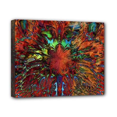 Boho Bohemian Hippie Floral Abstract Canvas 10  X 8  by CrypticFragmentsDesign