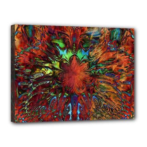 Boho Bohemian Hippie Floral Abstract Canvas 16  X 12  by CrypticFragmentsDesign