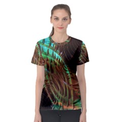 Metallic Abstract Copper Patina  Women s Sport Mesh Tee by CrypticFragmentsDesign