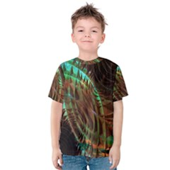 Metallic Abstract Copper Patina  Kid s Cotton Tee by CrypticFragmentsDesign