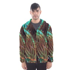 Metallic Abstract Copper Patina  Hooded Wind Breaker (Men) by CrypticFragmentsDesign
