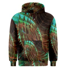 Metallic Abstract Copper Patina  Men s Pullover Hoodie by CrypticFragmentsDesign
