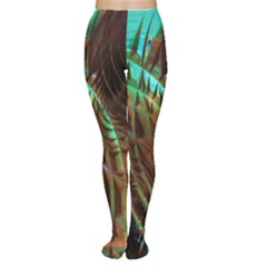 Metallic Abstract Copper Patina  Women s Tights by CrypticFragmentsDesign