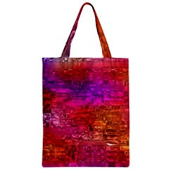 Purple Orange Pink Colorful Art Zipper Classic Tote Bag by yoursparklingshop