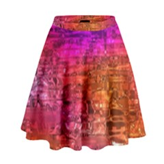Purple Orange Pink Colorful Art High Waist Skirt by yoursparklingshop