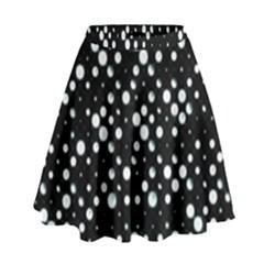 Galaxy Dots Print High Waist Skirt by dflcprintsclothing