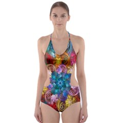 Spirals And Curlicues Cut-Out One Piece Swimsuit