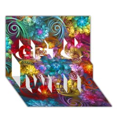 Spirals And Curlicues Get Well 3d Greeting Card (7x5)  by WolfepawFractals