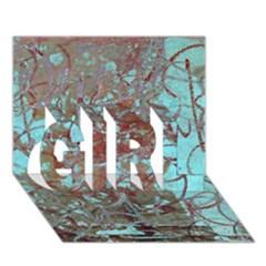 Urban Graffiti Grunge Look GIRL 3D Greeting Card (7x5)  by CrypticFragmentsDesign