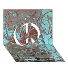 Urban Graffiti Grunge Look Peace Sign 3d Greeting Card (7x5)  by CrypticFragmentsDesign