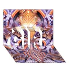 Fire Goddess Abstract Modern Digital Art  Girl 3d Greeting Card (7x5)  by CrypticFragmentsDesign