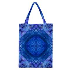 Boho Bohemian Hippie Tie Dye Cobalt Classic Tote Bag by CrypticFragmentsDesign
