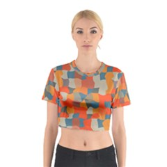 Retro colors distorted shapes                           Cotton Crop Top by LalyLauraFLM