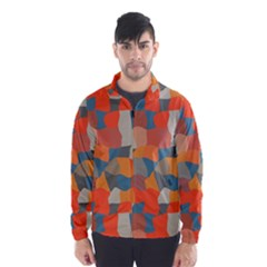 Retro colors distorted shapes                           Wind Breaker (Men) by LalyLauraFLM