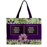 Purple and Daisy Tote - Mini Tote Bag
