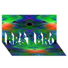 Neon Night Dance Party Best Bro 3d Greeting Card (8x4)  by CrypticFragmentsDesign