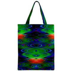 Neon Night Dance Party Zipper Classic Tote Bag by CrypticFragmentsDesign