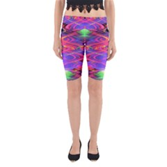 Neon Night Dance Party Pink Purple Yoga Cropped Leggings by CrypticFragmentsDesign