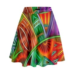 Happy Tribe High Waist Skirt by KirstenStar