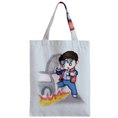 Back To The Plushie Future Zipper Classic Tote Bag by lvbart