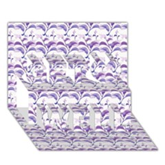 Floral Stripes Pattern Get Well 3d Greeting Card (7x5)  by dflcprints