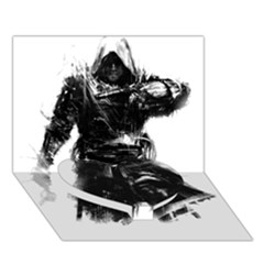 Assassins Creed Black Flag Tshirt Heart Bottom 3d Greeting Card (7x5)  by iankingart