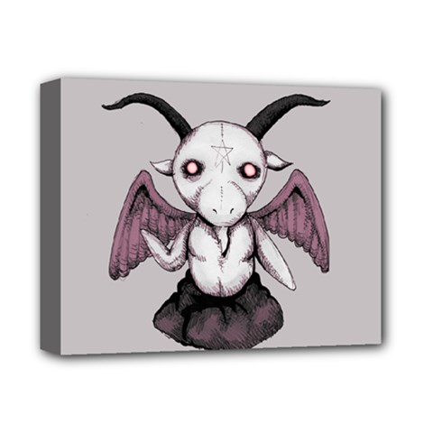 Plushie Baphomet Deluxe Canvas 14  X 11  by lvbart
