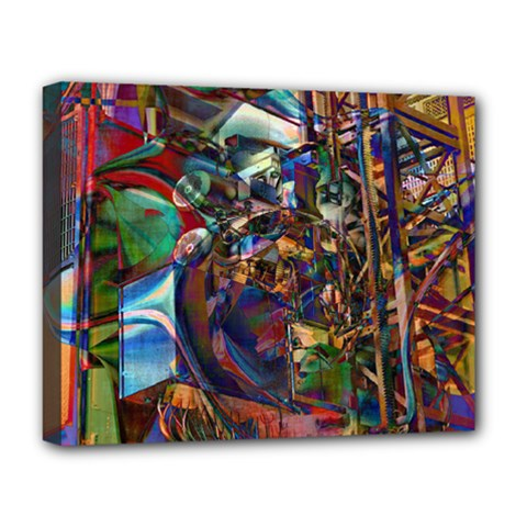 Las Vegas Nevada Ghosts Deluxe Canvas 20  X 16   by CrypticFragmentsDesign