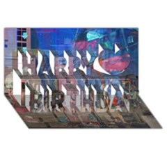 Las Vegas Strip Walking Tour Happy Birthday 3d Greeting Card (8x4)  by CrypticFragmentsDesign